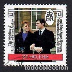 Sellos: SANTA ELENA (1986). BODA DEL PRÍNCIPE ANDRÉS. YVERT Nº 447. USADO.. Lote 289518348
