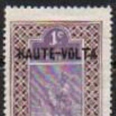 Sellos: ALTO VOLTA IVERT Nº 1, COLONIA FRANCESA, CAMELLERO SOBRECARGADO, NUEVO CON SEÑAL DE CHARNELA. Lote 289694358