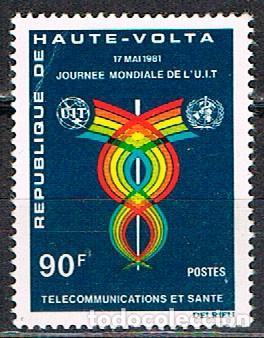 ALTO VOLTA IVERT Nº 543, DIA MUNDIAL DE LAS TELECOMUNICACIONES, TELECOMUNICACIONES Y SALUD NUEVO *** (Sellos - Extranjero - África - Otros paises)