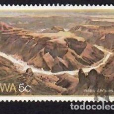 Sellos: ÁFRICA DEL SUDOESTE (1981). CAÑÓN DEL RÍO FISH. YVERT Nº 457. USADO.. Lote 289749303