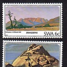 Sellos: ÁFRICA DEL SUDOESTE (1982). MONTAÑAS. YVERT 481 Y 483. NUEVOS*** SIN FIJASELLOS.. Lote 289750203