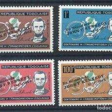 Sellos: TOGO N°406/08 + PA 43* (MH) 1964 - JOHN F. KENNEDY. Lote 289775798