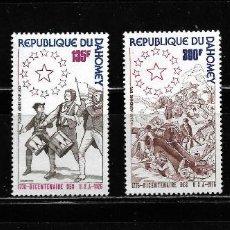 Sellos: DAHOMEY 1976, SERIE MI 636/39 BICENTENARIO U.S.A. MNH.. Lote 294585318