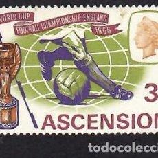 Sellos: ASCENSIÓN (1966). CAMP. MUNDIAL DE FÚTBOL INGLATERRA. YVERT Nº 101. NUEVO*** SIN FIJASELLOS.. Lote 295955393