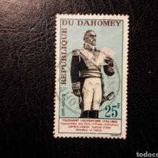 Sellos: DAHOMEY YVERT 199 SELLO SUELTO USADO 1963 TOUSSAINT LOUVERTURE PEDIDO MÍNIMO 3€. Lote 296752158