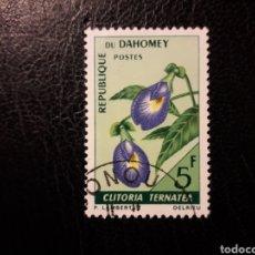 Sellos: DAHOMEY YVERT 248 SELLO SUELTO USADO 1967 FLORA. FLORES PEDIDO MÍNIMO 3€. Lote 296752548
