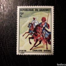 Sellos: DAHOMEY YVERT 298 SELLO SUELTO USADO 1970 JINETES. CABALLOS PEDIDO MÍNIMO 3€. Lote 296752743