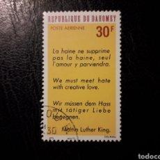 Sellos: DAHOMEY YVERT A-75 SELLO SUELTO USADO 1968 DECLARACIÓN MARTIN LUTHER KING. PEDIDO MÍNIMO 3€. Lote 296752943