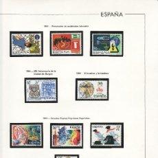Sellos: OFERTA HOJAS EDIFIL 1984/88 CON ESTUCHES NEGROS, SIN SELLOS, CON TAPA PLASTICO, PVP 155. Lote 27187108