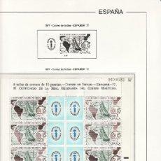 Sellos: OFERTA HOJAS EDIFIL 1977/94 MINIPLIEGOS ESTUCHES TRANSPARENTE SIN SELLOS,TAPA PLASTICO PVP 135. Lote 26232322
