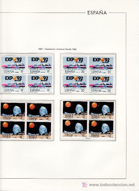 OFERTA HOJAS EDIFIL 1987/92 BLOQUE CUATRO ESTUCHES TRANSPARES, TAPA SEMILUJO, SIN SELLOS PVP 330 (Sellos - Material Filatélico - Álbumes de Sellos)