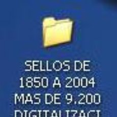 Sellos: DISCO, DIGITALIZACIÓN DE TODOS LOS SELLOS DE ESPAÑA 1X1, DESDE 1850 HASTA 2004, EN CARPETAS POR AÑOS. Lote 33948499