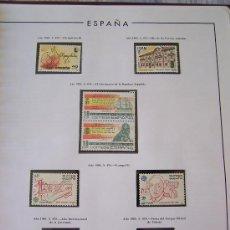 Sellos: ALBUM SELLOS DE ESPAÑA CON 23 HOJAS TOGALL PERIODO 1983-1986 108 SELLOS NUEVOS FALTAN 48. Lote 27655601