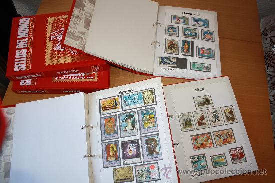 Sellos: Coleccion Sellos del Mundo 5 tomos (ediciones Urbion) principios años 80. 1º Edición. - Foto 2 - 29781164