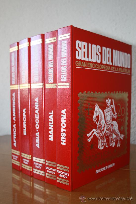 COLECCION SELLOS DEL MUNDO 5 TOMOS (EDICIONES URBION) PRINCIPIOS AÑOS 80. 1º EDICIÓN. (Sellos - Material Filatélico - Álbumes de Sellos)