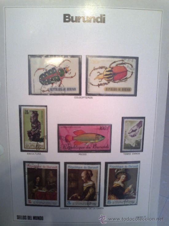 Sellos: Coleccion Sellos del Mundo 5 tomos (ediciones Urbion) principios años 80. 1º Edición. - Foto 5 - 29781164