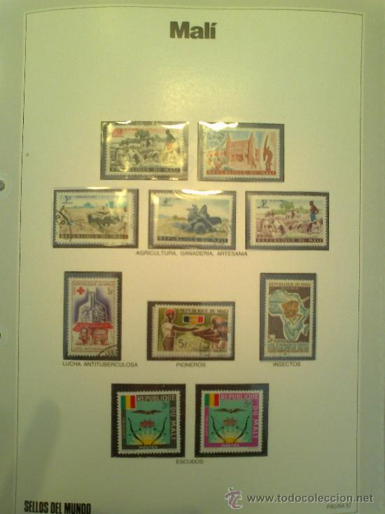 Sellos: Coleccion Sellos del Mundo 5 tomos (ediciones Urbion) principios años 80. 1º Edición. - Foto 7 - 29781164