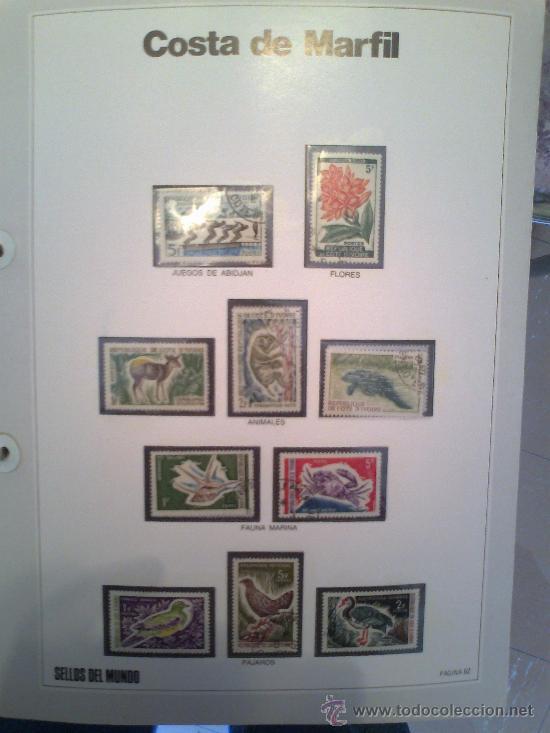 Sellos: Coleccion Sellos del Mundo 5 tomos (ediciones Urbion) principios años 80. 1º Edición. - Foto 10 - 29781164