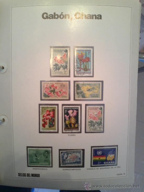 Sellos: Coleccion Sellos del Mundo 5 tomos (ediciones Urbion) principios años 80. 1º Edición. - Foto 15 - 29781164