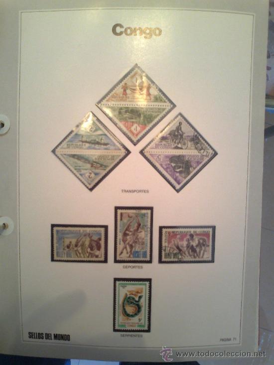 Sellos: Coleccion Sellos del Mundo 5 tomos (ediciones Urbion) principios años 80. 1º Edición. - Foto 16 - 29781164