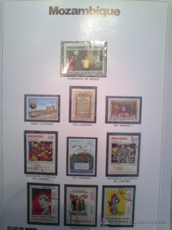 Sellos: Coleccion Sellos del Mundo 5 tomos (ediciones Urbion) principios años 80. 1º Edición. - Foto 18 - 29781164