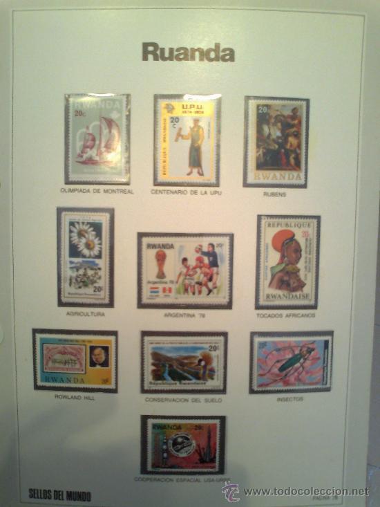 Sellos: Coleccion Sellos del Mundo 5 tomos (ediciones Urbion) principios años 80. 1º Edición. - Foto 20 - 29781164