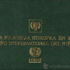 Sellos: ALBUM NUMERADO Nº193 PARA LA TEMATICA AÑO INTERNACIONAL DEL NIÑO CON HOJAS MONTADAS ESPECIALES . Lote 32410577