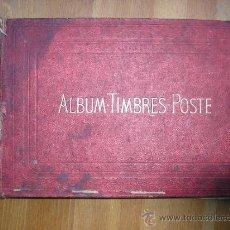 Sellos: 1873 ALBUM-TIMBRES-POSTE,LEITH.F.HERMET,7,PAS,DAUPHINE,PARIS,AÑO 1873,SIN SELLOS,VACIO. Lote 34961549