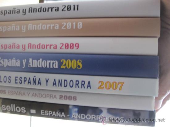 COL. DE SELLOS COMPLETA ESPAÑA Y ANDORRA EN ALBUM DE CORREOS DE 2006 / 07 / 08 / 09 / 2010 Y 2011 (Sellos - Material Filatélico - Álbumes de Sellos)