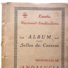 Sellos: ESPAÑA NACIONAL SINDICALISTA. ALBUM PARA SELLOS DE CORREOS. PROVINCIAS DE ANDALUCIA. ED. OFILMA.. Lote 37858232