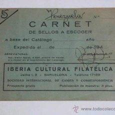 Sellos: CARNET DE SELLOS SOCIEDAD INTERNACIONAL DE CANJES Y CORRESPONDENCIA, INCLUYE SELLOS EN EL INTERIOR.. Lote 39383298