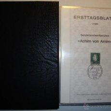 Sellos: 85 SPD (ERSTTAGSBLATT) DE BERLIN DE 1981 A 1987 COMPLETO EN ÁLBUM. Lote 44987889