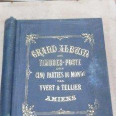Sellos: ENORME ALBUM DE SELLOS - GRAND ALBUM DE TIMBRES-POSTE DES CINQ PARTIES DU MONDE - YVERT & TELLIER. Lote 45176154