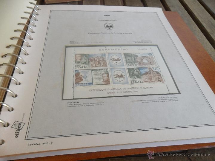 Sellos: ALBUM DE SELLOS EFILCAR 1979 1980 TIENE 22 HOJAS DE ELLAS 8 COMPLETAS CON LOS SELLOS - Foto 9 - 46057178