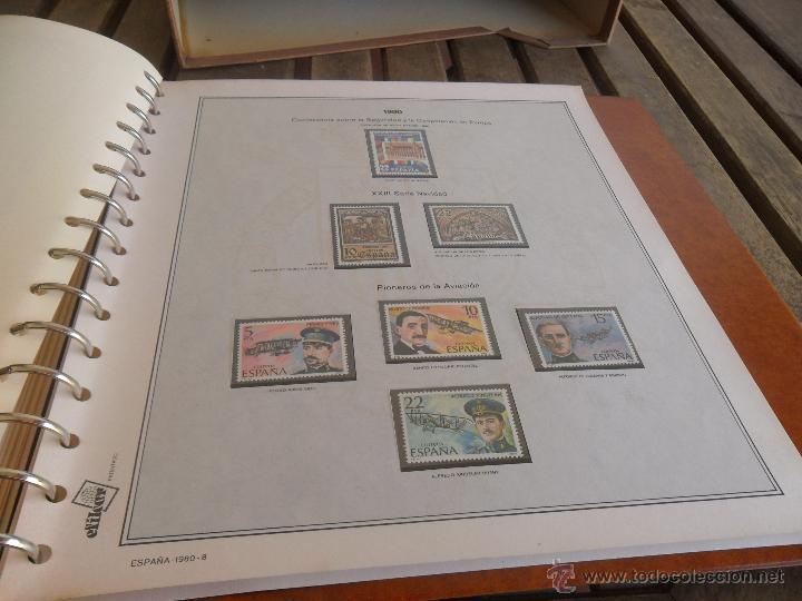 Sellos: ALBUM DE SELLOS EFILCAR 1979 1980 TIENE 22 HOJAS DE ELLAS 8 COMPLETAS CON LOS SELLOS - Foto 13 - 46057178
