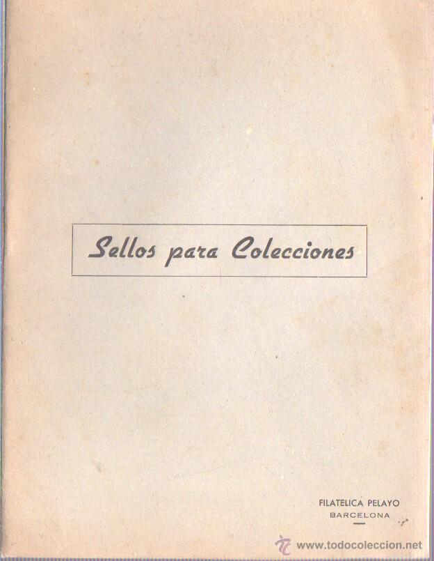 VIEJA LIBRETA VACIA - SELLOS PARA COLECCIONES - FILATELIA PELAYO E BARCELONA (Sellos - Material Filatélico - Álbumes de Sellos)