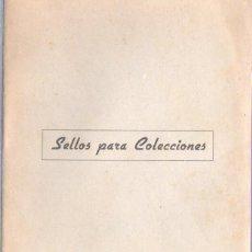Sellos: VIEJA LIBRETA VACIA - SELLOS PARA COLECCIONES - FILATELIA PELAYO E BARCELONA. Lote 46480156