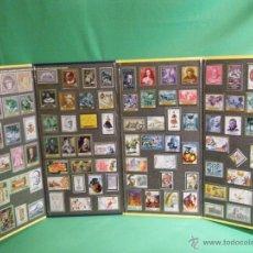 Sellos: SELLOS.ALBUM COMPLETO CON 100 SELLOS MÉTALICOS. HISTORIA DE VALENCIA EN EL SELLO ESPAÑOL.. Lote 51811239