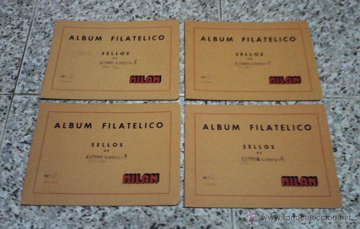 4 ALBUMS FILATELICO DE SELLOS MILAN Nº2 USADOS. (Sellos - Material Filatélico - Álbumes de Sellos)