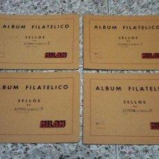 Sellos: 4 ALBUMS FILATELICO DE SELLOS MILAN Nº2 USADOS.. Lote 51942438