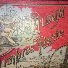 Sellos: ALBUM ILUSTRADO TIMBRES POSTE SIN SELLOS CON 5 MAPAS(CARTAS GEOGRAFICAS) PRINCIPIOS DE 1900. Lote 52647842