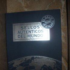 Sellos: ALBUM SELLOS AUTENTICOS DEL MUNDO.EL GRAN TESORO DE LA FILATELIA.EL MUNDO AFINSA. Lote 55143073