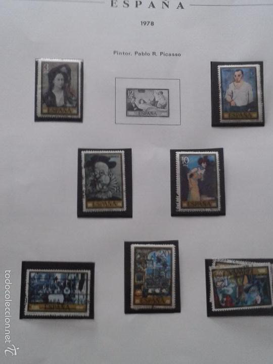 Sellos: ÁLBUM (COLOR ROJO) DE SELLOS DE ESPAÑA ANTIGUOS ,ALREDEDOR DE 150 SELLOS - Foto 2 - 58833161