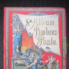 Sellos: PRECIOSO ALBUM DE SELLOS - ALBUM TIMBRES-POSTE. AÑO 1889. CONTIENE MÁS DE 500 SELLOS.. Lote 72022659