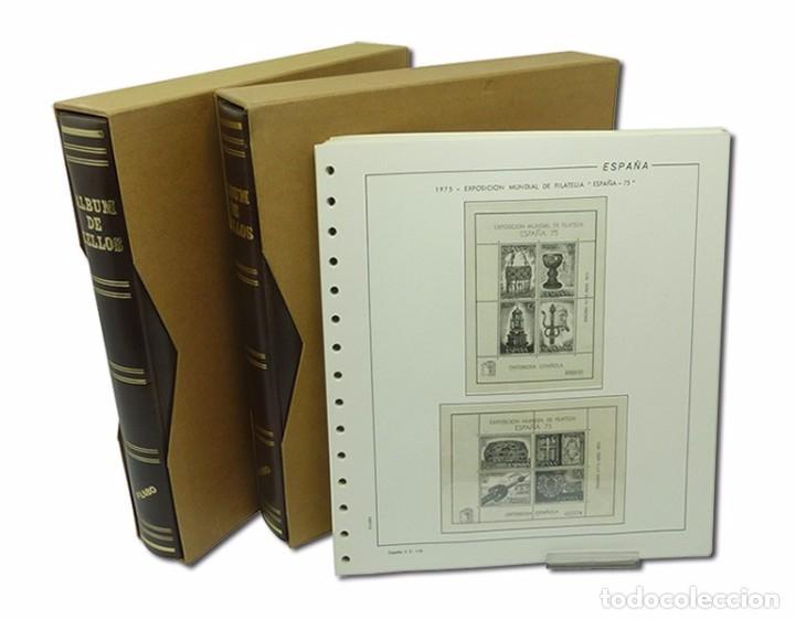MATERIAL FILATELICO, 2 TAPAS FILABO HOJAS FILABO 1975/83 M/B 2 MANO (Sellos - Material Filatélico - Álbumes de Sellos)