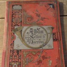 Sellos: ANTIQUISIMO ALBUM PARA COLOCAR SELLOS, CON 700 IMAGENES, RASTROS DE CHARNELAS Y ANOTACIONES. Lote 80176989
