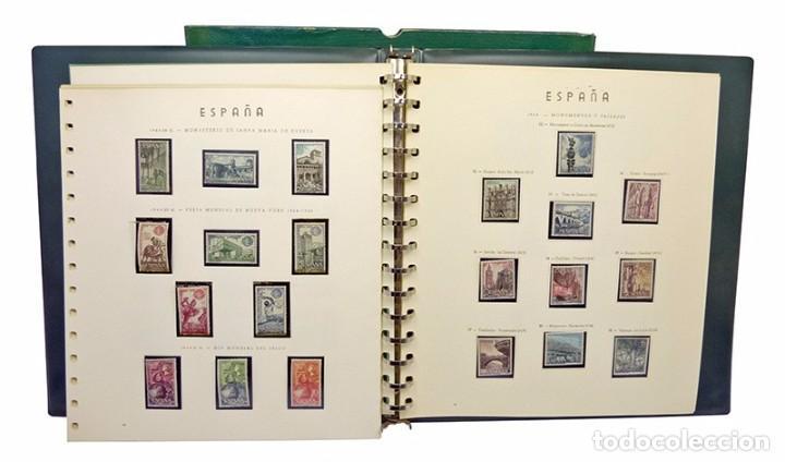 SELLOS 1964/67 ALBUM VERDE HOJAS M/N (Sellos - Material Filatélico - Álbumes de Sellos)