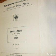 Sellos: OFERTA LEUCHTTURM-FARO MALTA 1964/79 USADAS, 42 HOJAS CON ESTUCHES TRANSPARENTES, SIN SELLOS. Lote 85052396