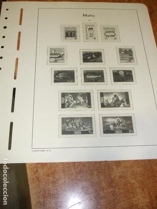 Sellos: oferta leuchtturm-faro malta 1964/79 usadas, 42 hojas con estuches transparentes, sin sellos - Foto 2 - 85052396