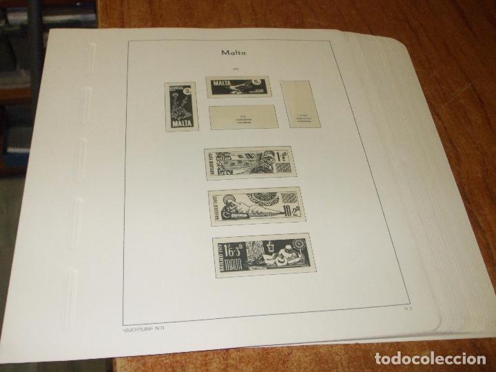 Sellos: oferta leuchtturm-faro malta 1964/79 usadas, 42 hojas con estuches transparentes, sin sellos - Foto 3 - 85052396